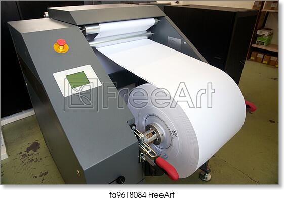 Free art print of Printing machine: digital web press