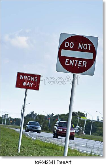 photo regarding Do Not Enter Sign Printable named Cost-free artwork print of Incorrect course road indications
