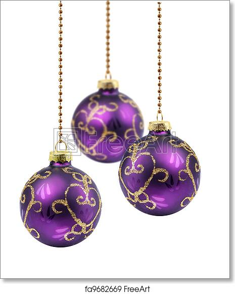 Christmas Balls.Free Art Print Of Purple Christmas Balls