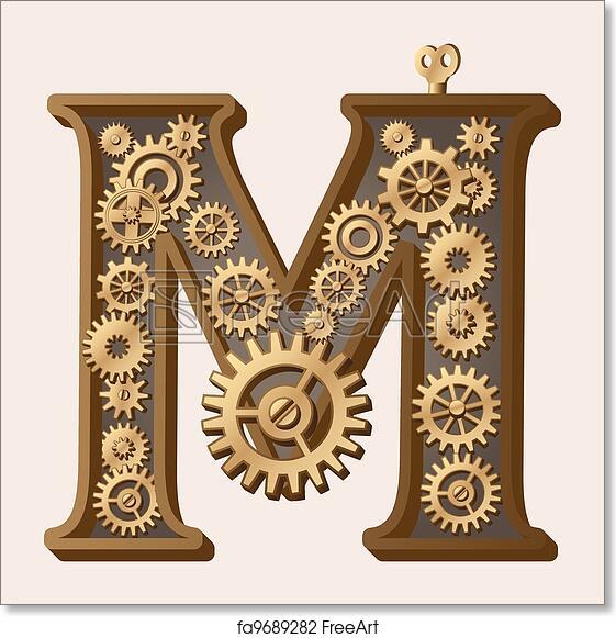 Letter Art Print.Free Art Print Of Mechanical Alphabet