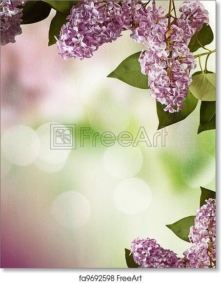 Free art print of lilac spring flowers border design lilac spring free art print of lilac spring flowers border design mightylinksfo