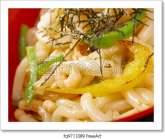 Free Art Print Of Hot Udon Noodles With Shrim