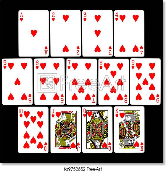 graphic regarding Deck of Cards Printable known as Cost-free artwork print of Enjoying Playing cards (Hearts)