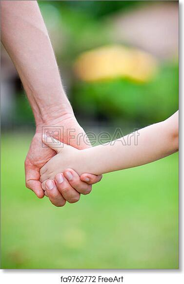 Free Art Print Of Father And Daughter Holding Hands Close Up Of