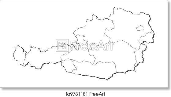 Free art print of Map of Austria