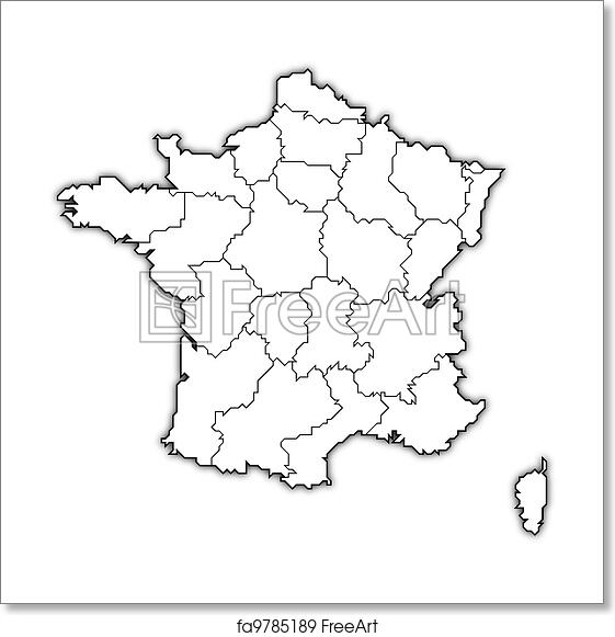 Map Of France Political.Free Art Print Of Map Of France