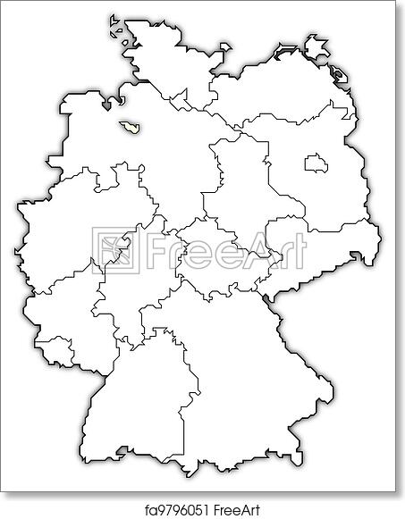 Free Art Print Of Map Of Germany Bremen Highlighted Political