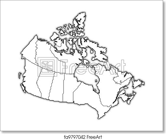 Map Of Canada Free.Free Art Print Of Map Of Canada