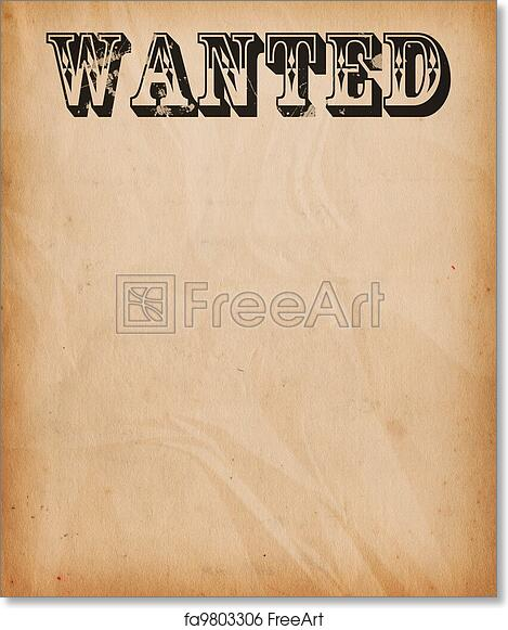 image regarding Free Printable Wanted Poster titled Cost-free artwork print of Basic Preferred Poster Record