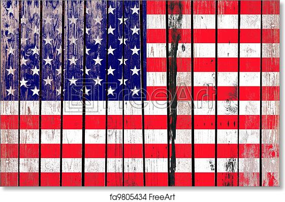 c8ca168a5c117 Free art print of Grunge USA flag background on old wood. Independence Day  is a federal holiday in the United States commemorating the adoption of the  ...