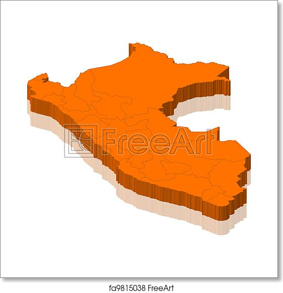 Free Art Print Of Map Of Peru Political Map Of Peru With The