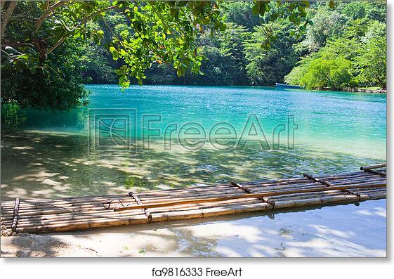 Free Art Print Of Jamaica A Blue Lagoon