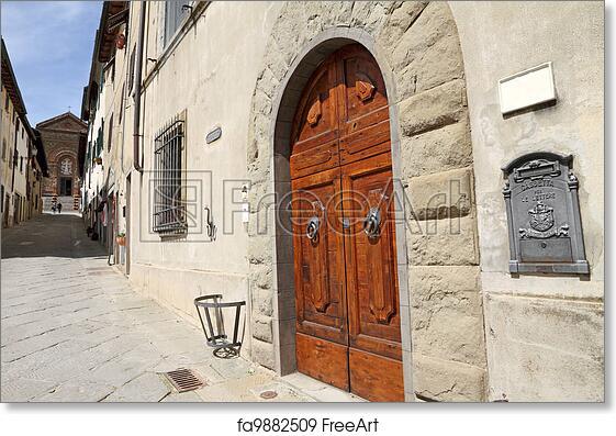 Free Art Print Of Classic Italian Mailbox And Elegant Double Wooden Front  Door
