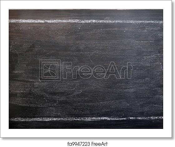 free art print of chalkboard background with a chalk drawing frame