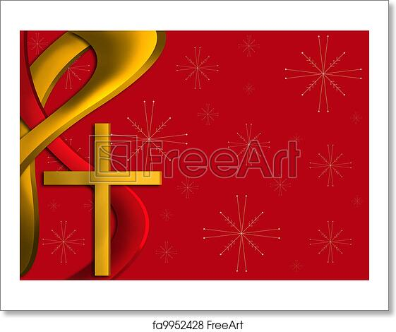 Religious Christmas Images.Free Art Print Of Red And Gold Religious Christmas Background