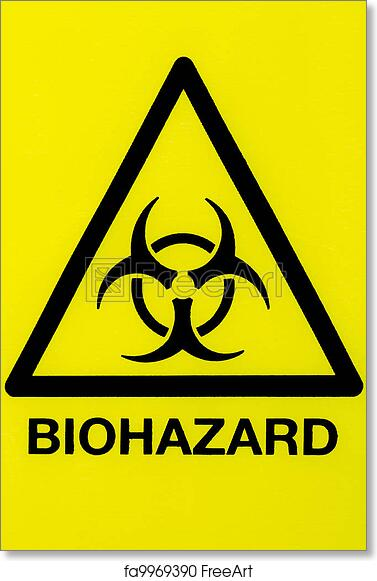 photograph about Biohazard Sign Printable named Cost-free artwork print of Finish up biohazard indication