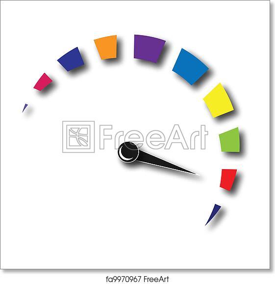 Free art print of Speed odometer colorful logo