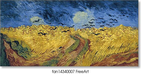 Vincent Van Gogh Wheatfield With Cornflowers Canvas Art Print Poster