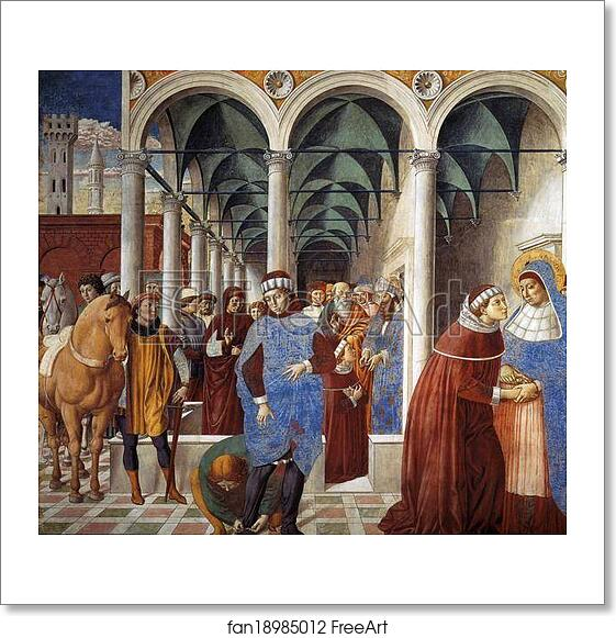 Free art print of Arrival of St. Augustine in Milan by ...