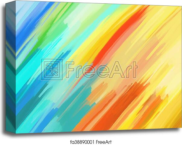 canvas print of digital painting abstract background digital
