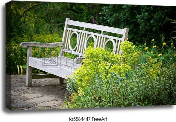 Excellent Canvas Print Of Secret Garden Garden Bench Andrewgaddart Wooden Chair Designs For Living Room Andrewgaddartcom