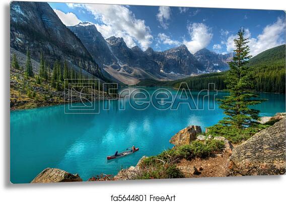 Metal Print Of Moraine Lake Banff National Park